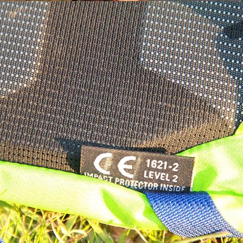sac à dos avec protection dorsale homologuée CE